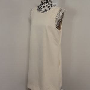 NWT J.Crew Shift Cream Colored Short-Sleeved Dress